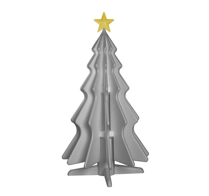 natty albero di natale in polistirolo icss packaging argento edizione speciale