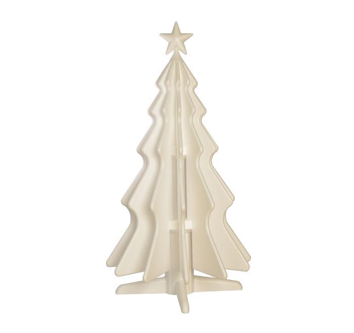 natty albero di natale in polistirolo icss packaging total white bianco